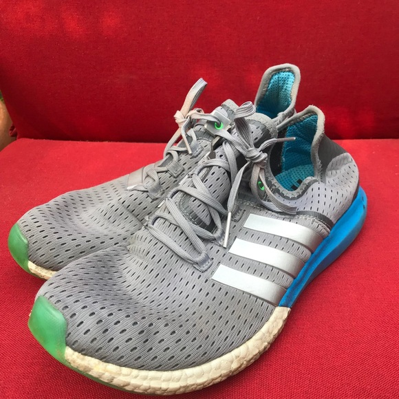 Gray Adidas Gazelle Boost Running Shoes Size 11.5